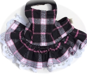 Black and Pink flannel Plaid dog Bolero