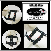 Flamingo Dog harness- by Sophie's Choice Dog harnesses designer Constance R. Spell